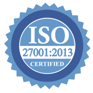 Verified certificate ISO 27001:2013
